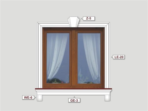 Fassadenset mit fassadenleiste le-20-1