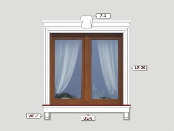 Fassadenset mit fassadenleiste le-20-2