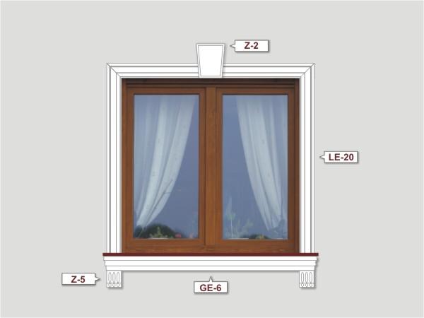 Fassadenset mit fassadenleiste le-20-3