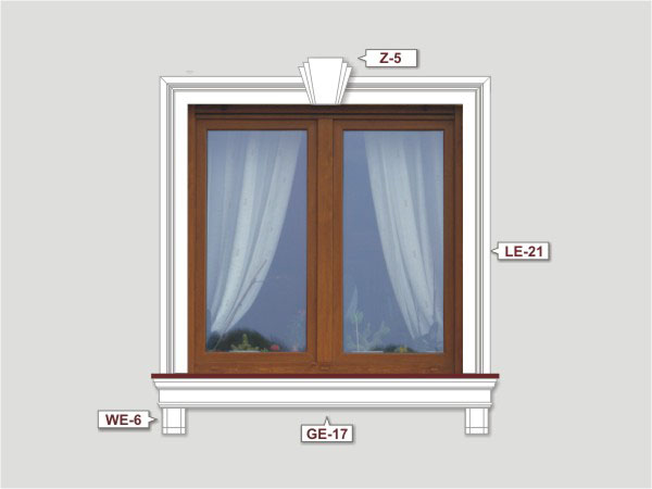 Fassadenset mit fassadenleiste le-21-1
