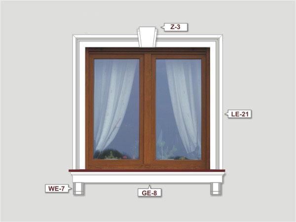 Fassadenset mit fassadenleiste le-21-2