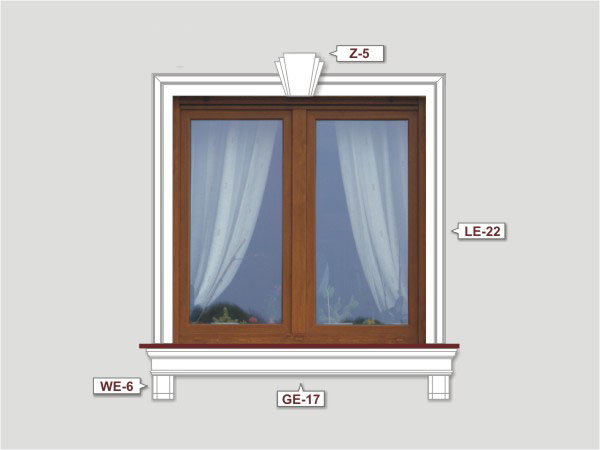 Fassadenset mit fassadenleiste le-22-1