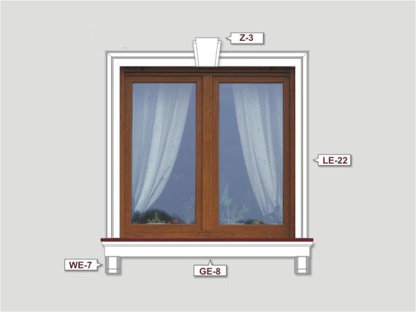 Fassadenset mit fassadenleiste le-22-2