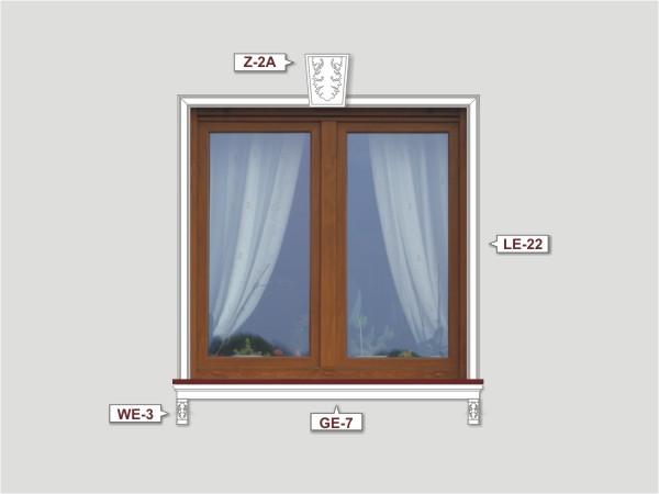 Fassadenset mit fassadenleiste le-22-3
