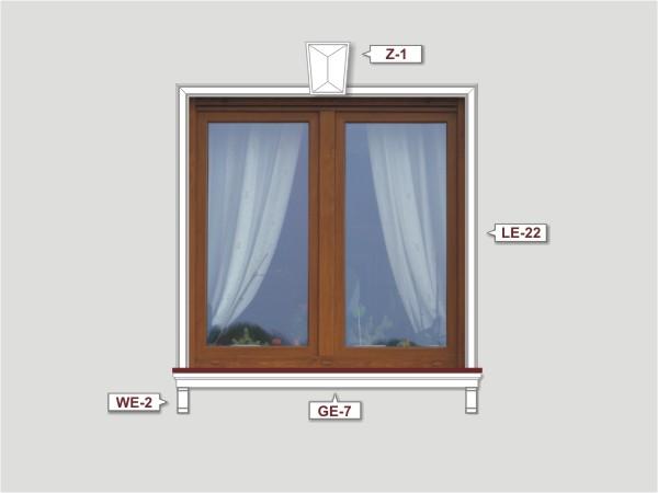 Fassadenset mit fassadenleiste le-22-4