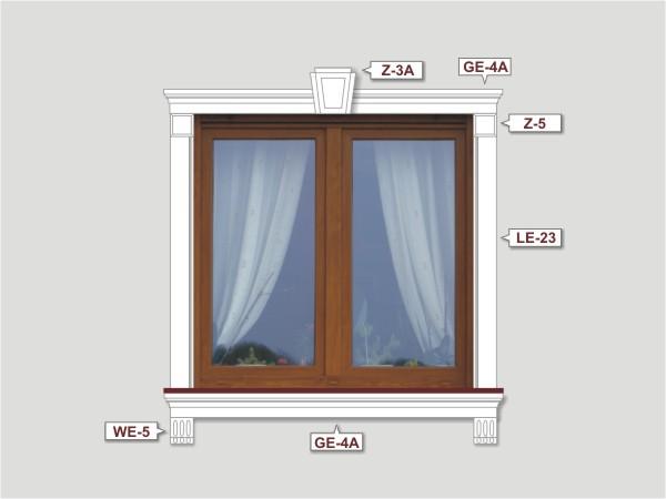 Fassadenset mit fassadenleiste le-23-4