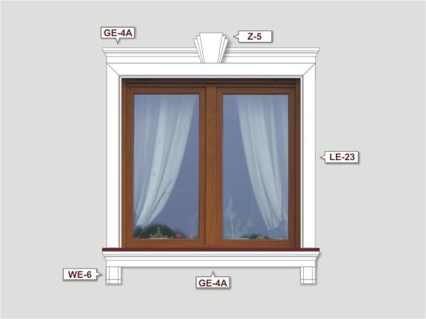 Fassadenset mit fassadenleiste le-23-1