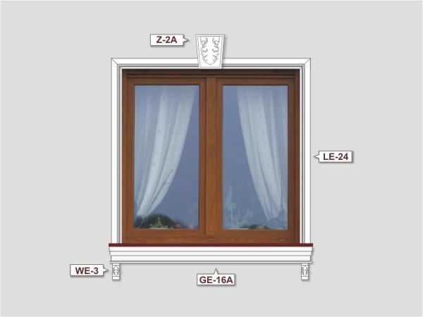 Fassadenset mit fassadenleiste le-24-3