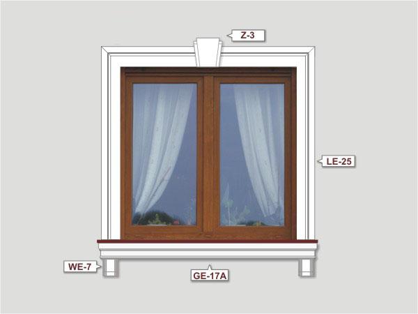 Fassadenset mit fassadenleiste le-25-2