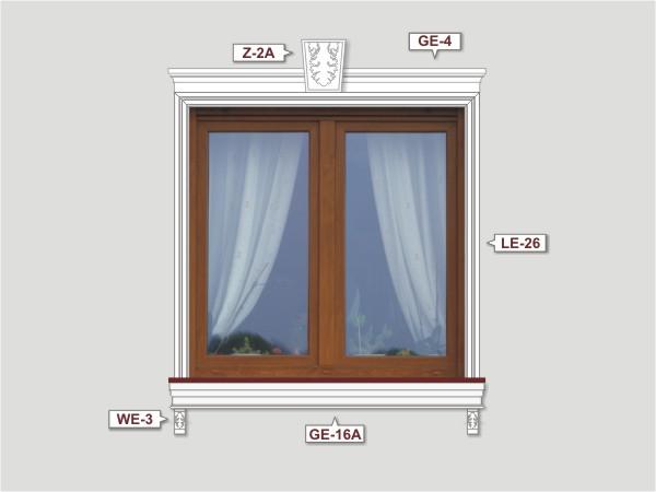 Fassadenset mit fassadenleiste le-26-3