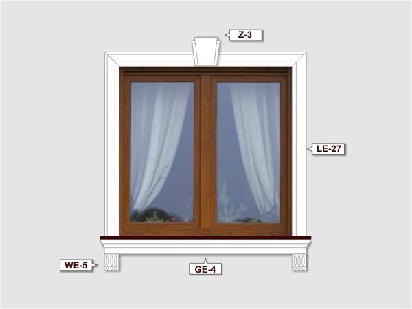 Fassadenset mit fassadenleiste le-27-2
