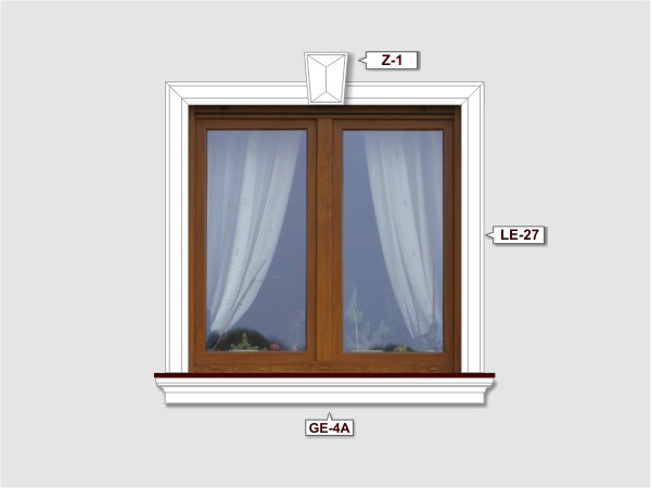 Fassadenset mit fassadenleiste le-27-3