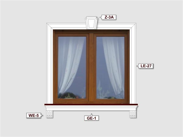 Fassadenset mit fassadenleiste le-27-4