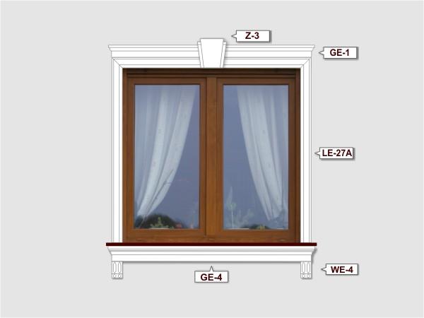 Fassadenset mit fassadenleiste le-27a-2