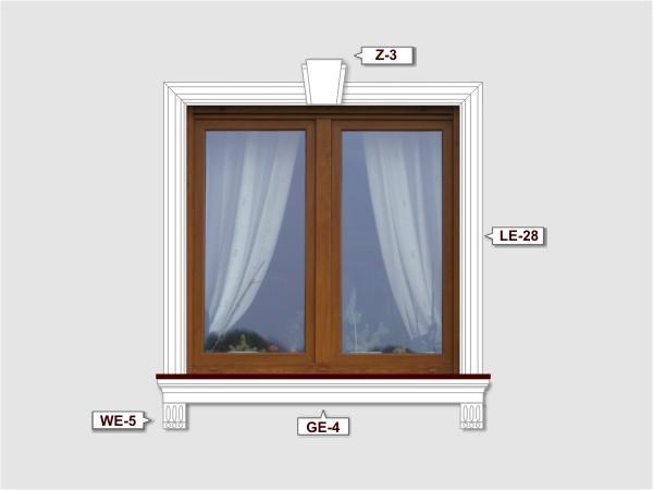 Fassadenset mit fassadenleiste le-28-2