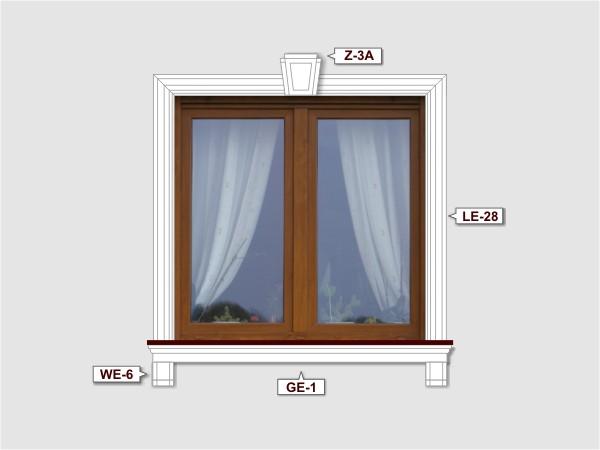 Fassadenset mit fassadenleiste le-28-4
