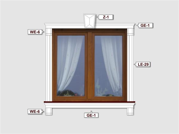 Fassadenset mit fassadenleiste le-29a-4