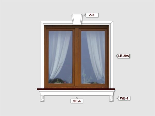 Fassadenset mit fassadenleiste le-29a-2