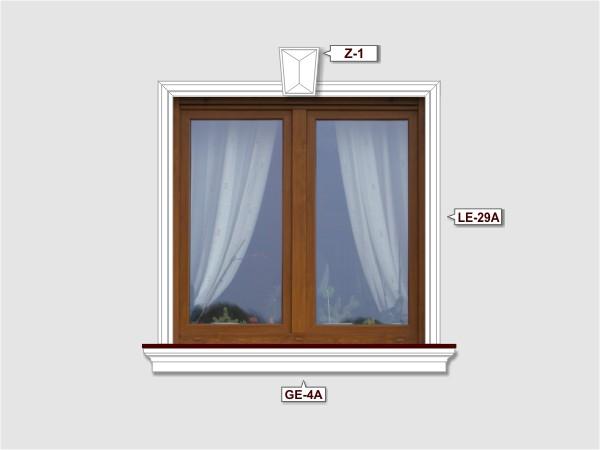 Fassadenset mit fassadenleiste le-29a-3