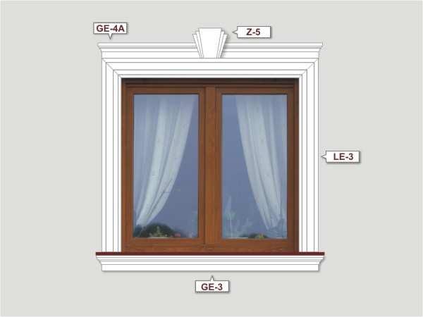 Fassadenset mit fassadenleiste le-1a-1