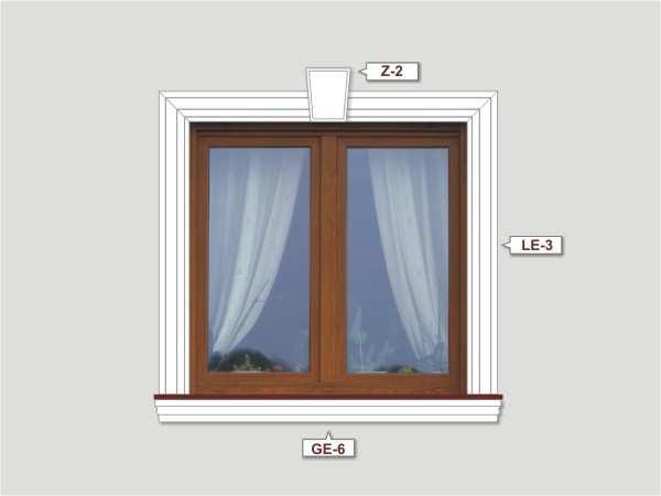 Fassadenset mit fassadenleiste le-1a-3