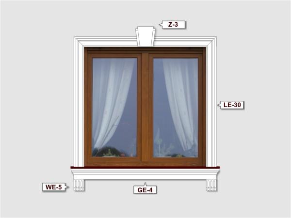 Fassadenset mit fassadenleiste le-30-2