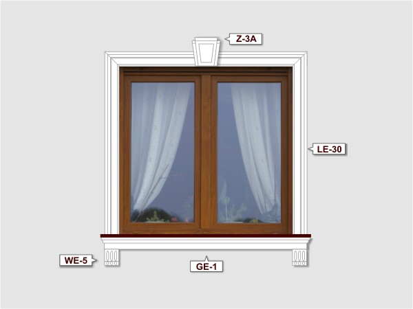Fassadenset mit fassadenleiste le-30-4