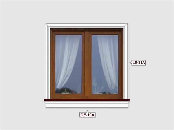 Fassadenset mit fassadenleiste le-31a-1