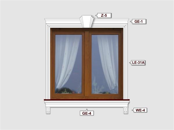 Fassadenset mit fassadenleiste le-31a-2
