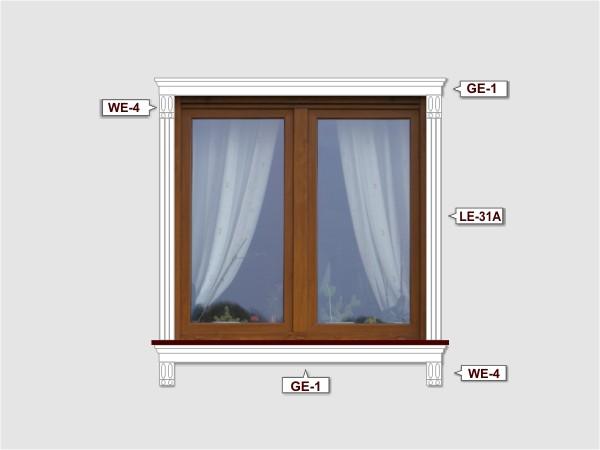 Fassadenset mit fassadenleiste le-31a-3
