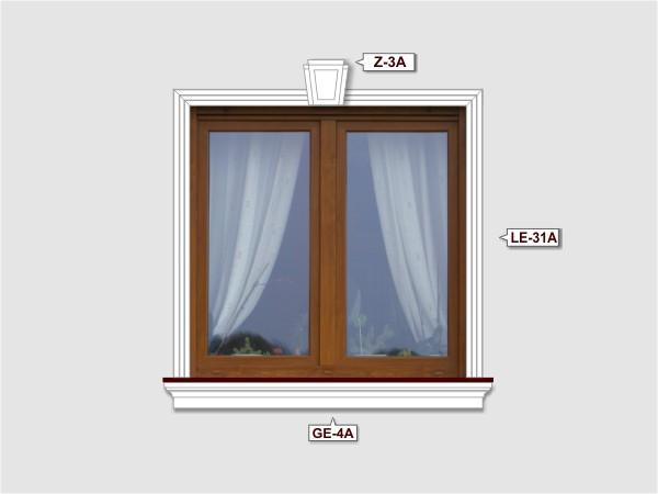 Fassadenset mit fassadenleiste le-31a-4