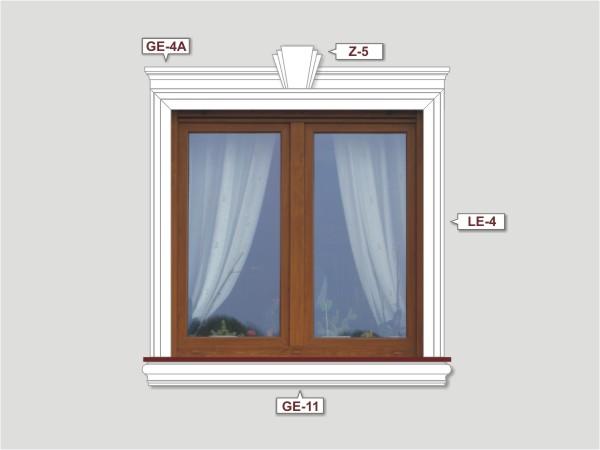 Fassadenset mit fassadenleiste le-4a-1