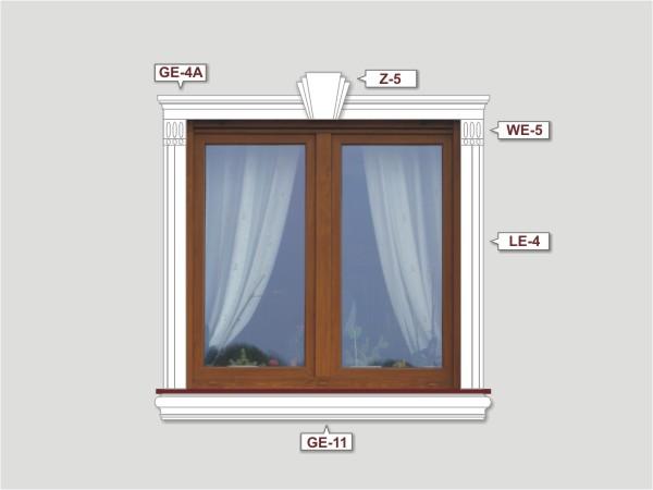 Fassadenset mit fassadenleiste le-4a-2