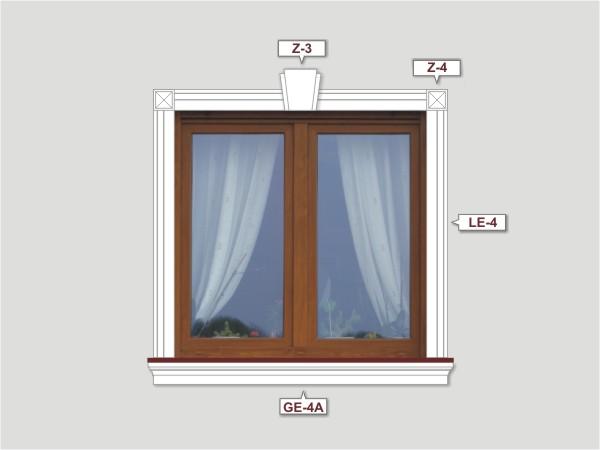 Fassadenset mit fassadenleiste le-4a-3