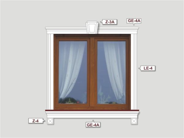 Fassadenset mit fassadenleiste le-4a-4