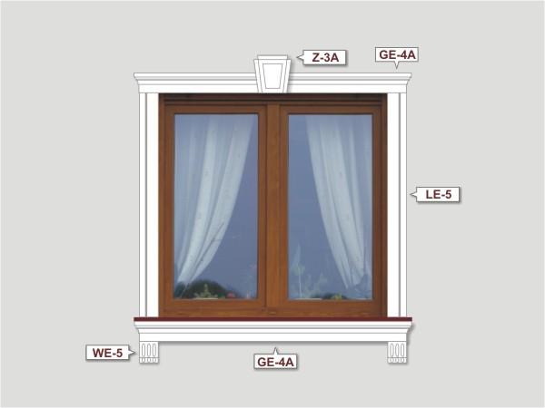 Fassadenset mit fassadenleiste le-5a-4
