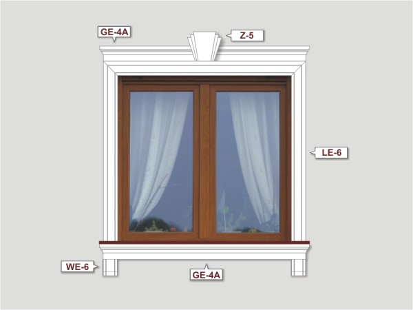 Fassadenset mit fassadenleiste le-6a-1