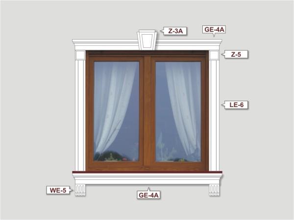 Fassadenset mit fassadenleiste le-6-4