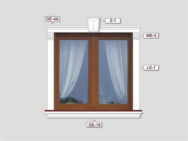 Fassadenset mit fassadenleiste le-7-2