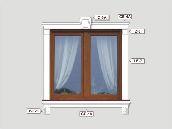 Fassadenset mit fassadenleiste le-7-3