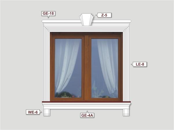 Fassadenset mit fassadenleiste le-8-1