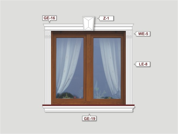 Fassadenset mit fassadenleiste le-8-2
