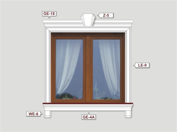 Fassadenset mit fassadenleiste le-9-1