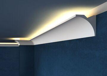 Lichtleisten LED - Stuckleisten LED aus Styropor von Decor System