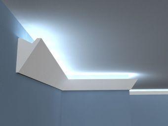 lichtleisten led stuckleisten led aus styropor von decor. Black Bedroom Furniture Sets. Home Design Ideas