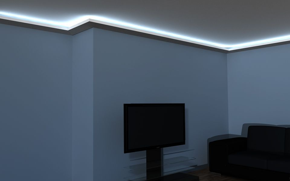 led stuck lo 8 wandlichtleiste. Black Bedroom Furniture Sets. Home Design Ideas