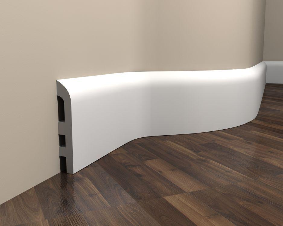 Fußleisten Weiß sockelleiste weiß elastisch md355f fußleiste stuck elastisch