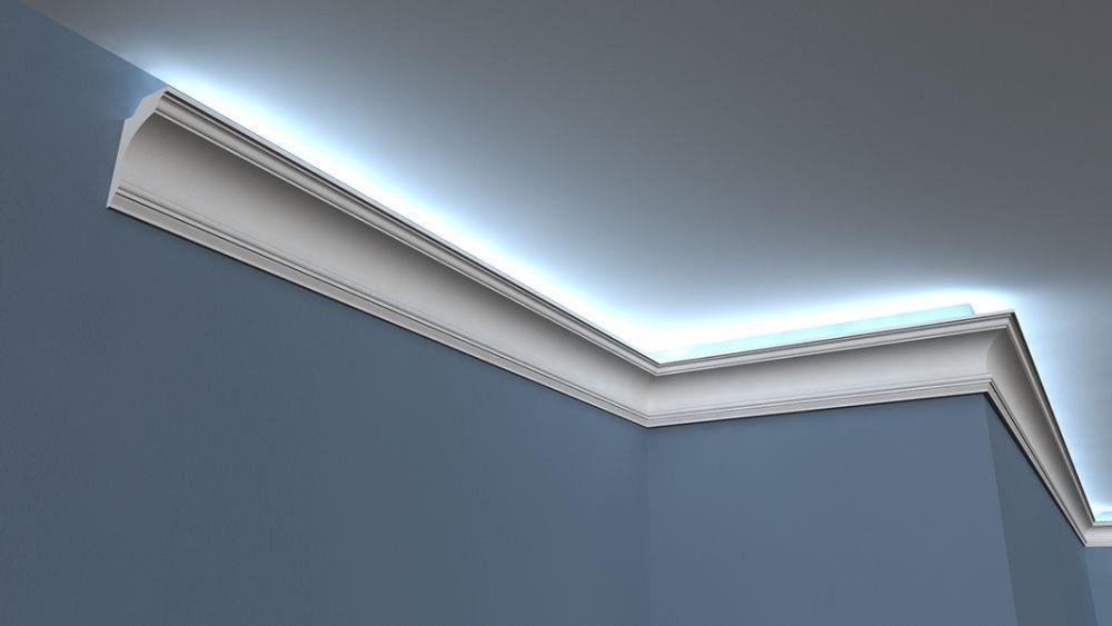 stuckleiste led low 10 wandlichtleiste. Black Bedroom Furniture Sets. Home Design Ideas