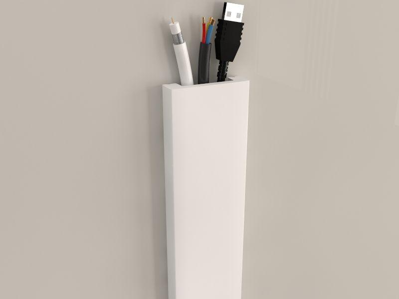 Leitungskanal wei kd04 f r tv kabel - Kabelabdeckung wand tv ...